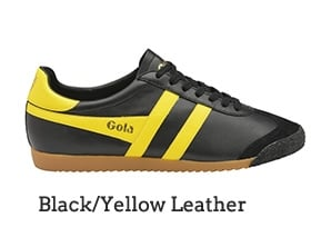 Black/Yellow Leather
