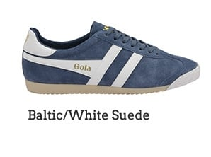 Baltic/White Suede