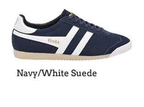 Navy/White Suede