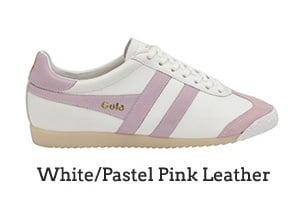 White/Pastel Pink Leather