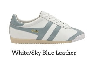 White/Sky Blue Leather