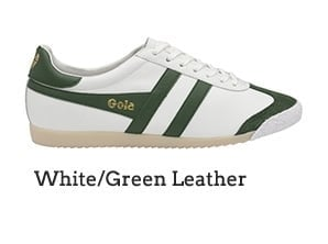 White/Green Leather
