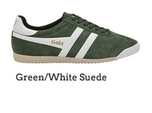 Green/White Suede