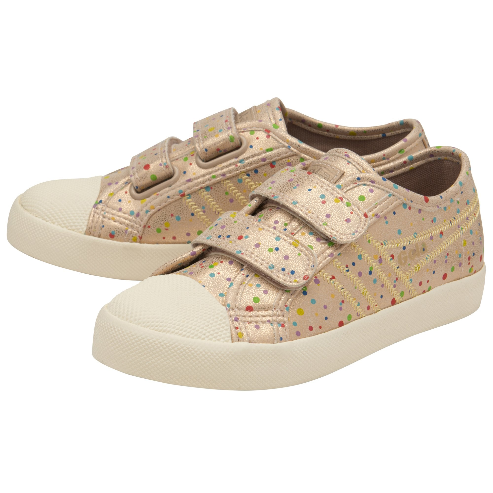Kids Coaster Shimmer Dot Strap Sneakers