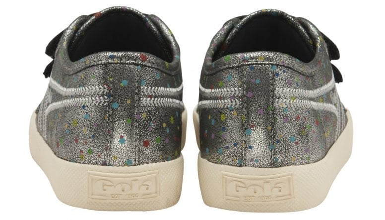 Kids Coaster Shimmer Dot Velcro Trainer