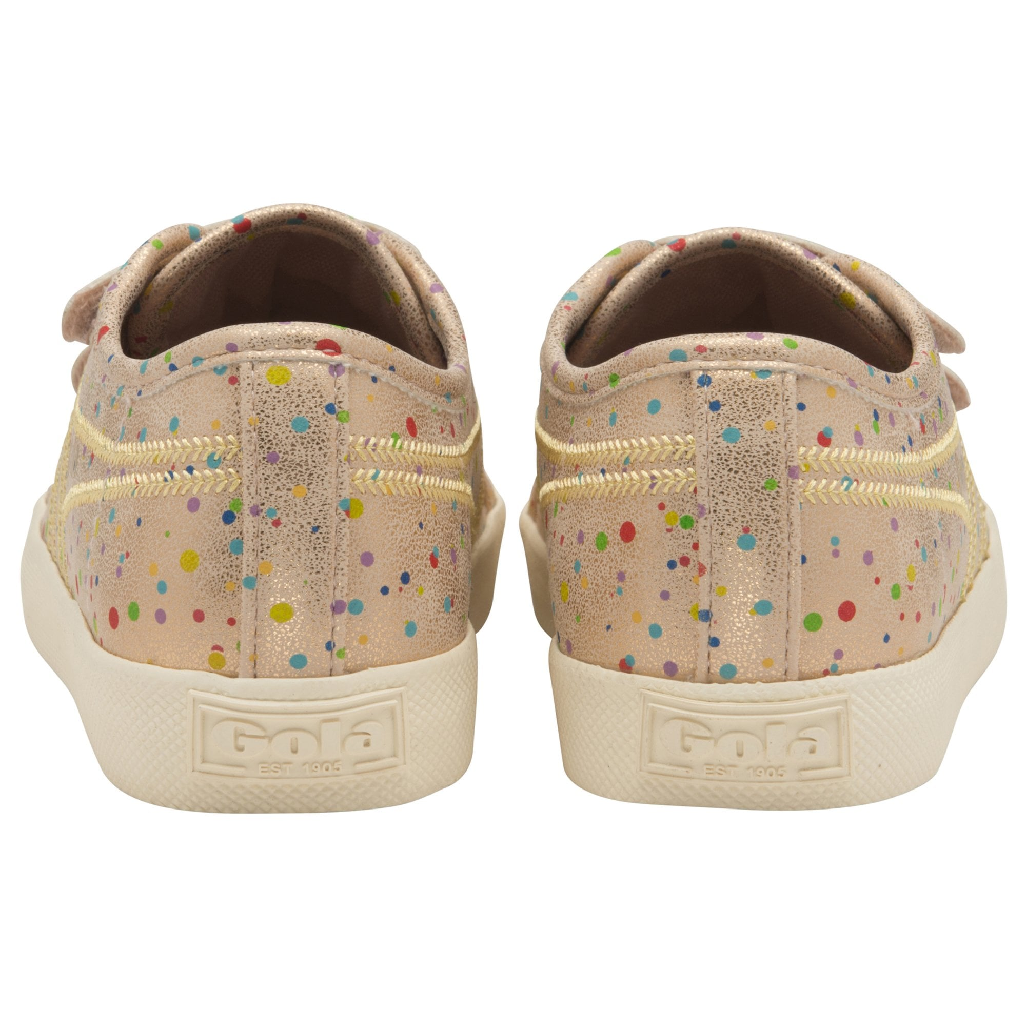 Kids Coaster Shimmer Dot Velcro Trainer