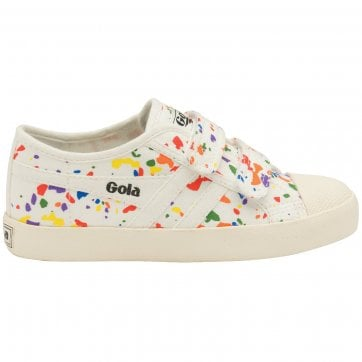 Kids Coaster Splatter Strap Sneakers
