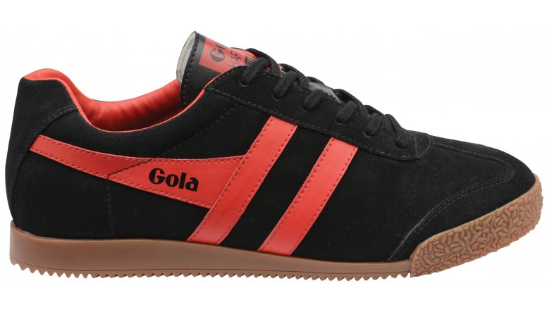 Gola Harrier Suede Sneaker(Men's) -Deep Red/Black Suede Cheap Sale Excellent FfFjzGDl