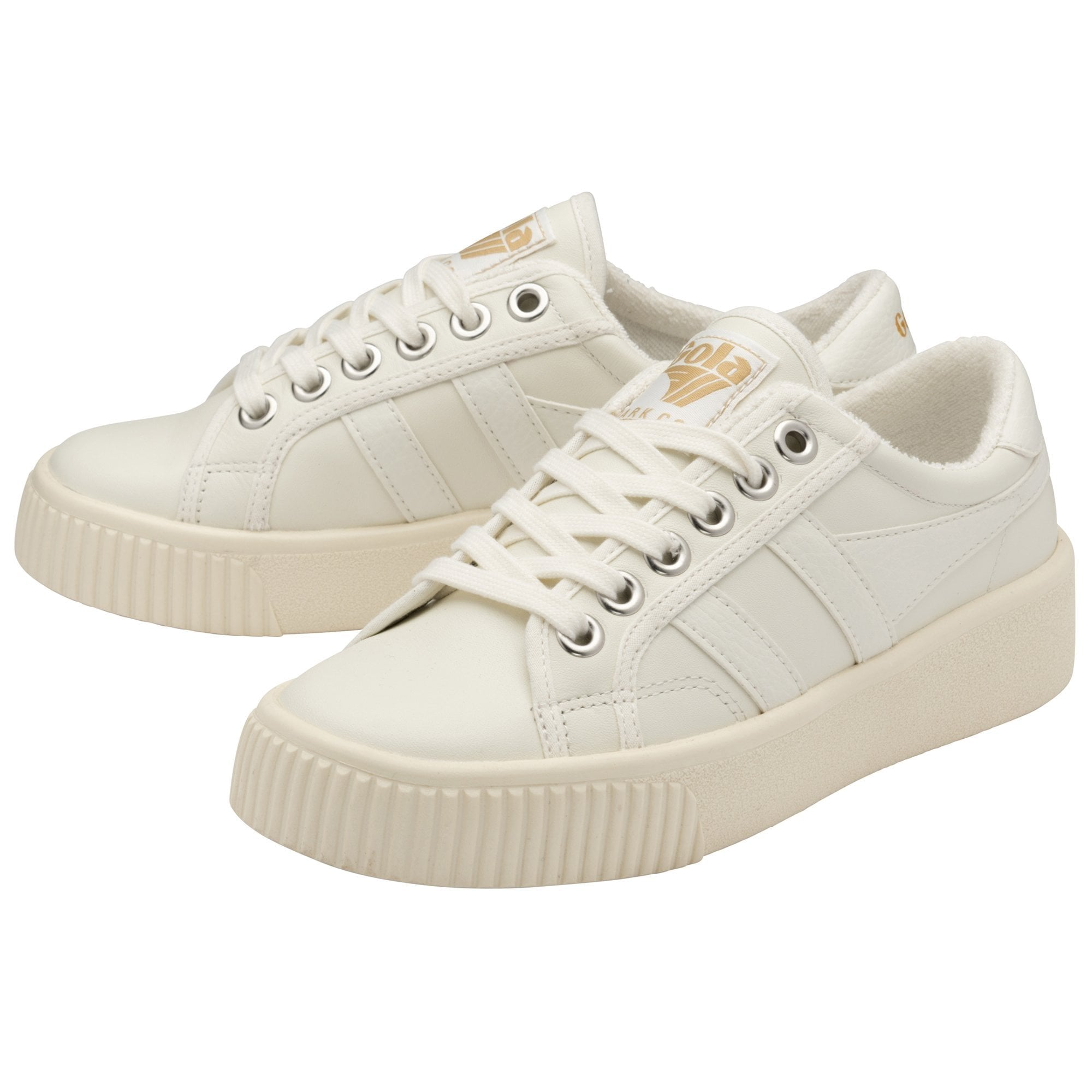 Buy Gola Baseline Mark Cox Leather sneakers in white/white online