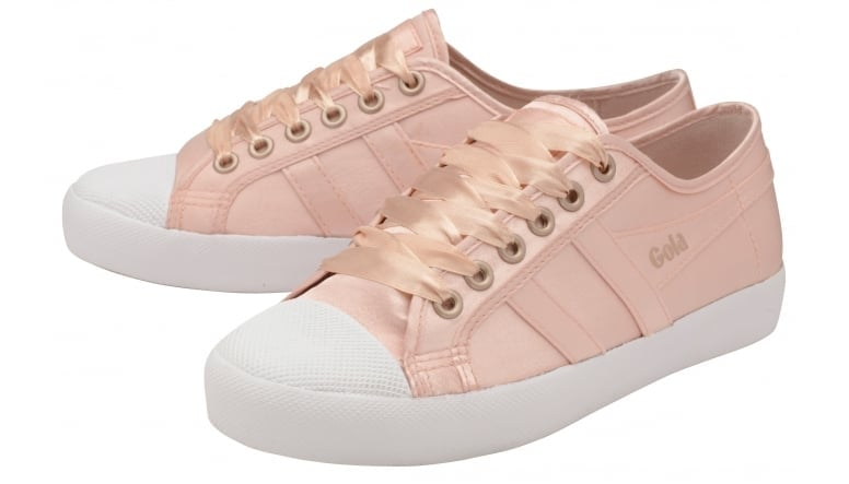 Womens Coaster Satin Blush Pink/White Trainers Gola 0tedH2m6