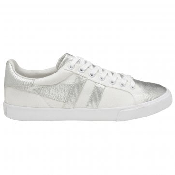 Women's Orchid Textile Metallic Trainer
